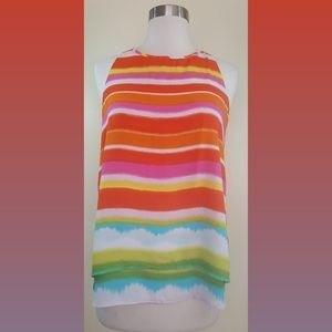 Zac & Rachel Rainbow Tank Top Size Small